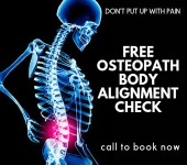 osteopath body alignment check