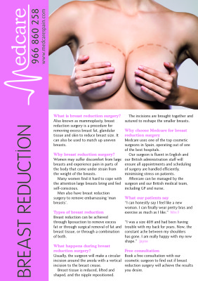 breast reduction fact sheet