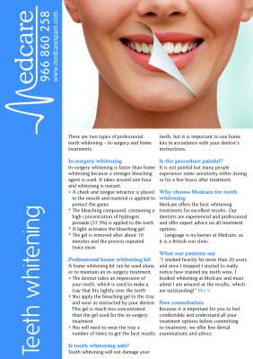 teeth whitening fact sheet
