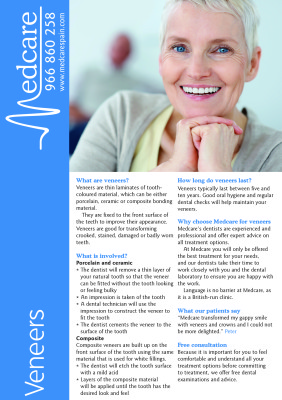 veneers fact sheet